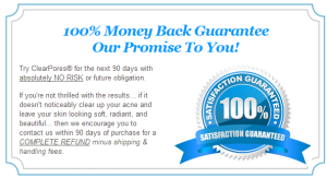 ClearPores money back guarantee